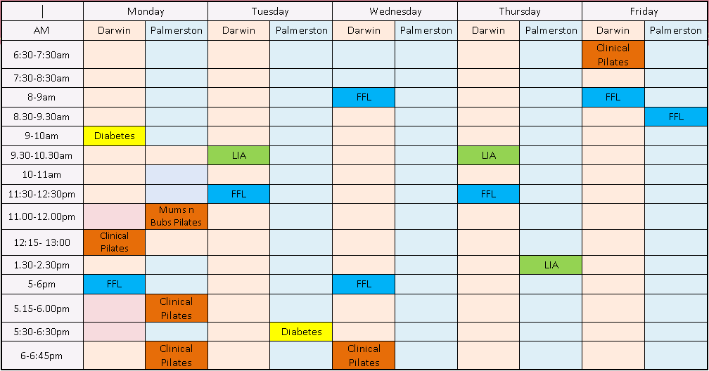 Timetable July 2017