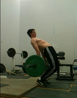 reverse deadlift